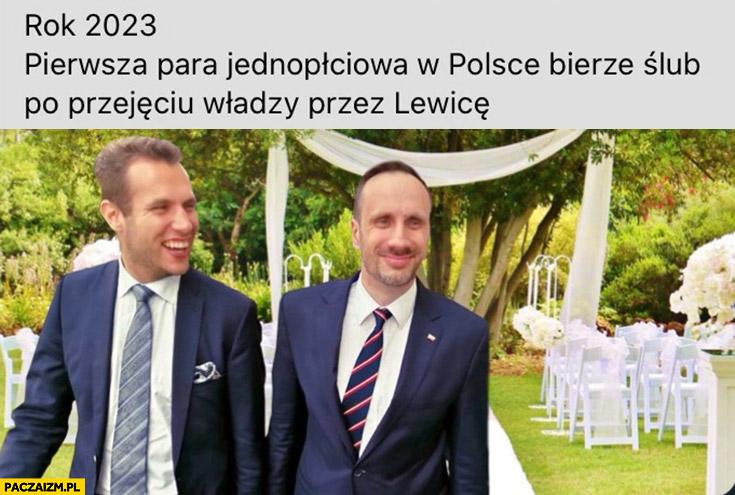 Kanthak Kowalski rok 2023 pierwsza para jednopłciowa w Polsce bierze ślub po przejęciu władzy przez lewicę