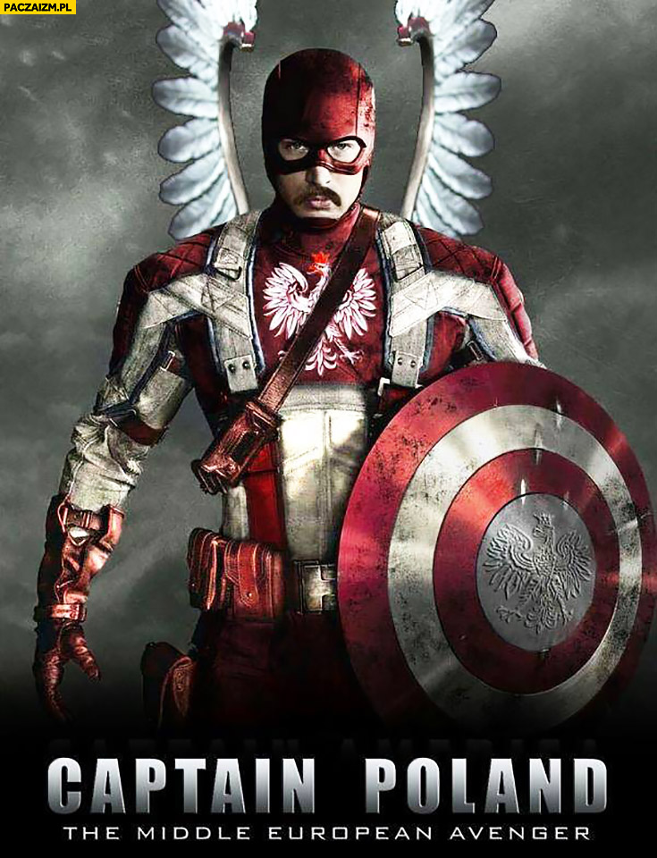 Kapitan Polska Captain Poland the middle european avenger
