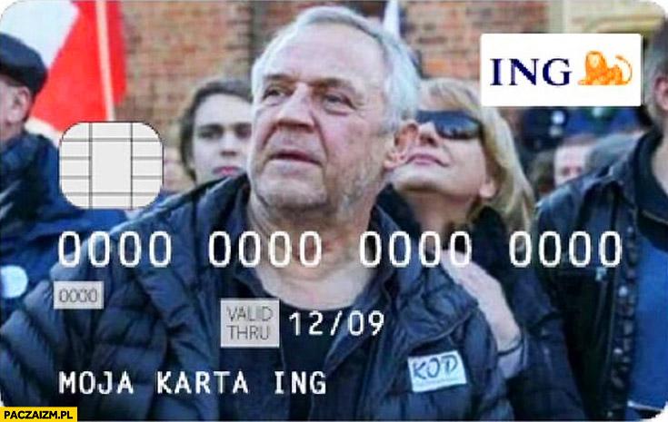 Karta ING Marek Kondrat demonstracja KOD