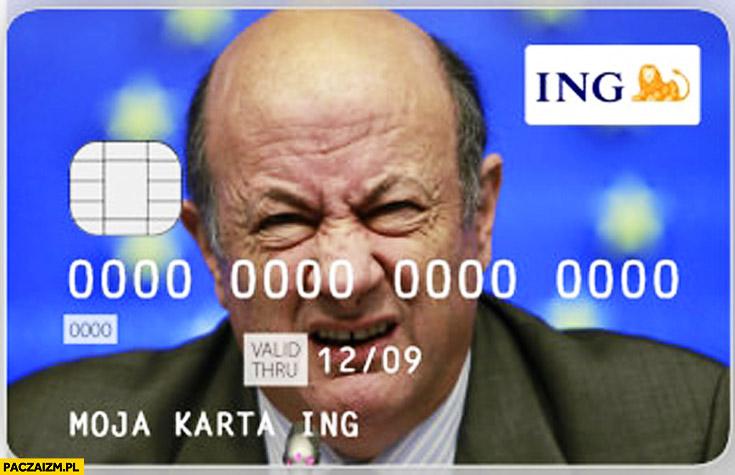 Karta kredytowa płatnicza z podobizną Rostowskiego