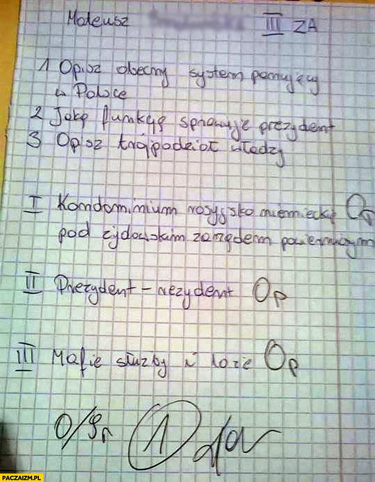 Kartkówka prezydent-rezydent kondominium rosyjsko-niemieckie mafie służby loże Grzegorz Braun