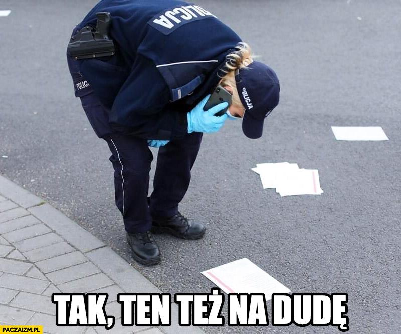 Karty do głosowania na ulicy policjantka tak ten też na Dudę