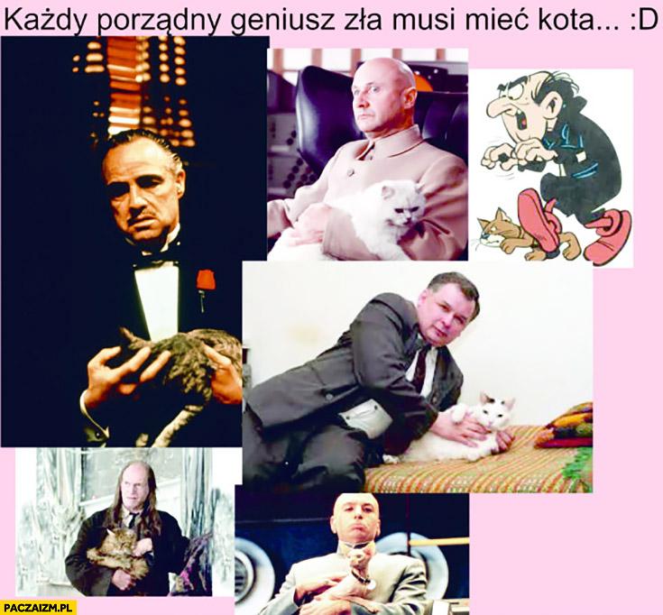 Każdy porządny geniusz zła musi mieć kota Ojciec Chrzestny Gargamel Kaczyński