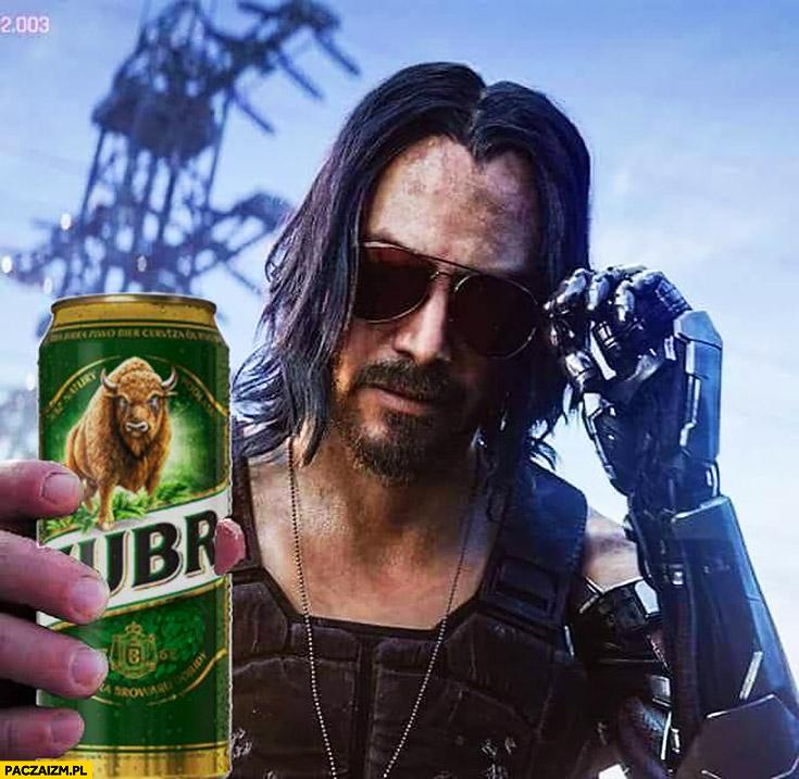 Keanu Reeves Żubr przeróbka Cyberpunk 2077