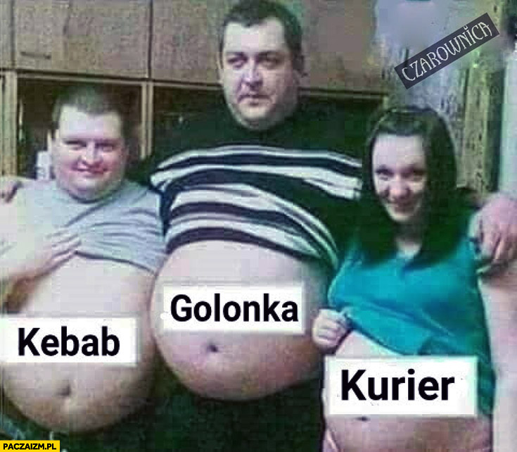 Kebab golonka kurier brzuch grube brzuchy laska w ciąży