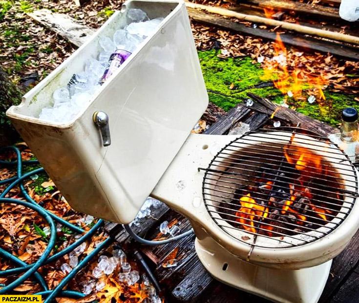 Kibel kreatywne zastosowanie grill chłodziarka