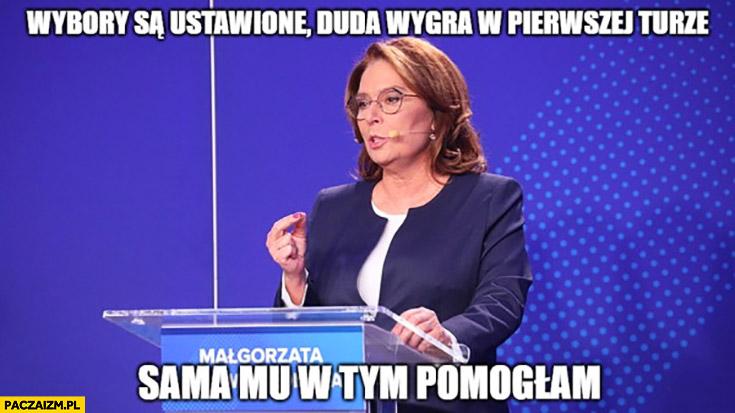 Kidawa-Błońska wybory są ustawione Duda wygra w pierwszej turze, sama mu w tym pomogłam