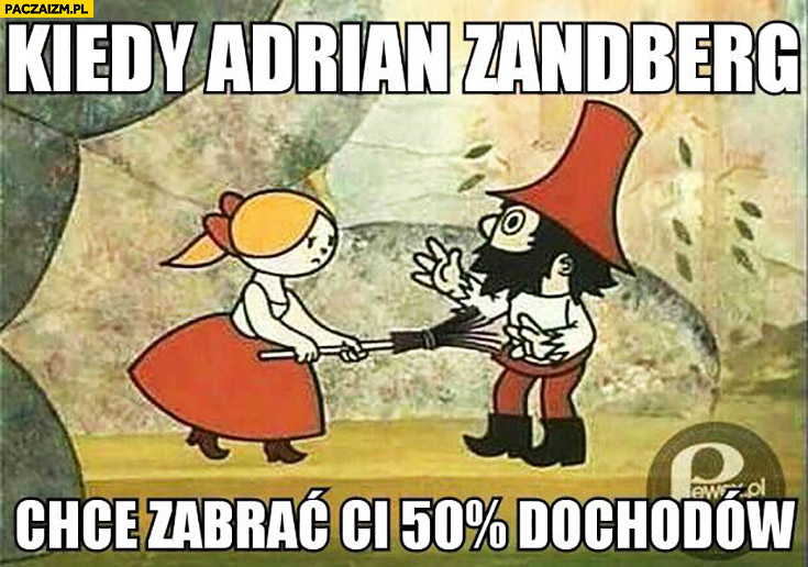 Kiedy Adrian Zandberg chce zabrać Ci 50% procent dochodów Rumcajs
