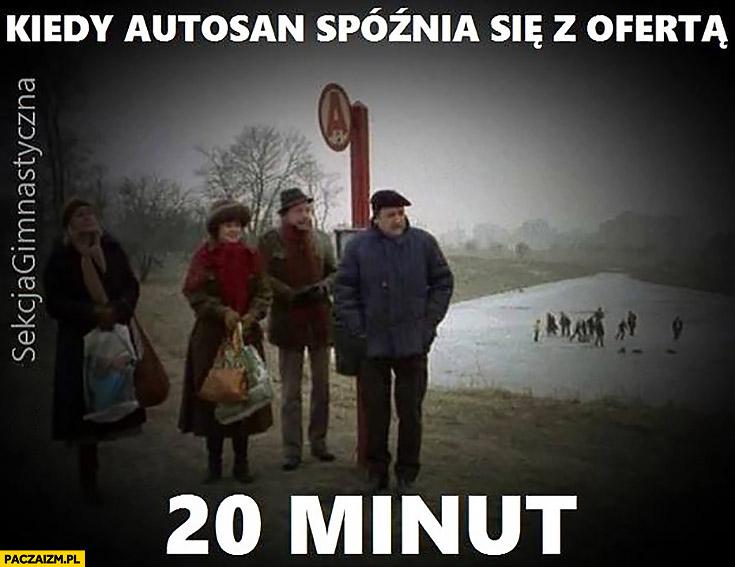 Kiedy Autosan spóźnia się z ofertą 20 minut ludzie na przystanku czekają na autobus