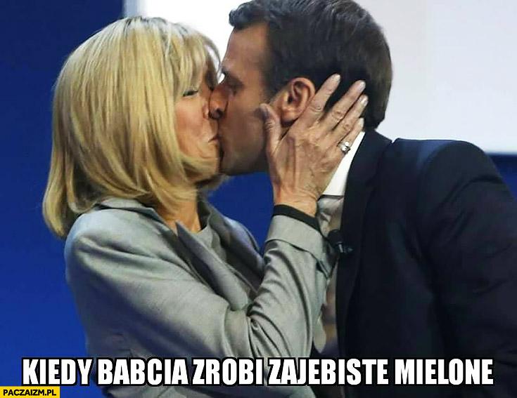 Kiedy babcia zrobi zarąbiste mielone. Macron ze starszą żoną wybory Francja