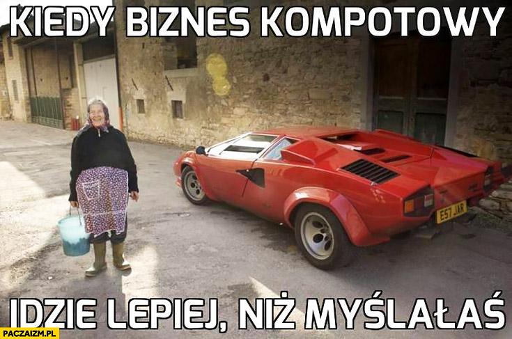 Kiedy biznes kompotowy idzie lepiej niż myślałaś babcia Lamborghini