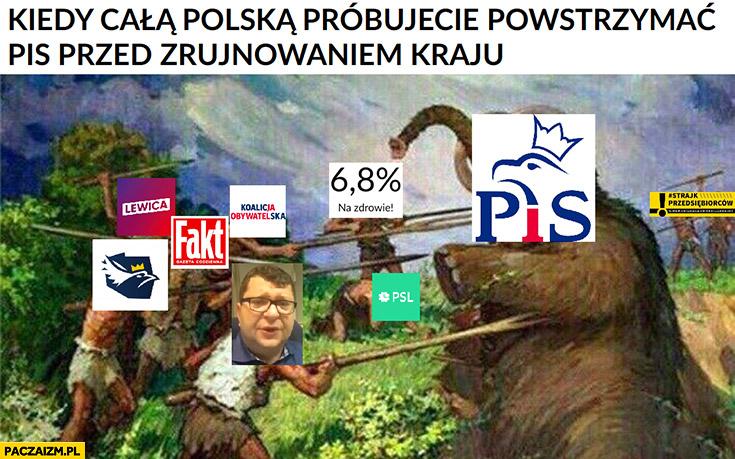 Kiedy całą Polską próbujecie powstrzymać PiS przed zrujnowaniem kraju mamut