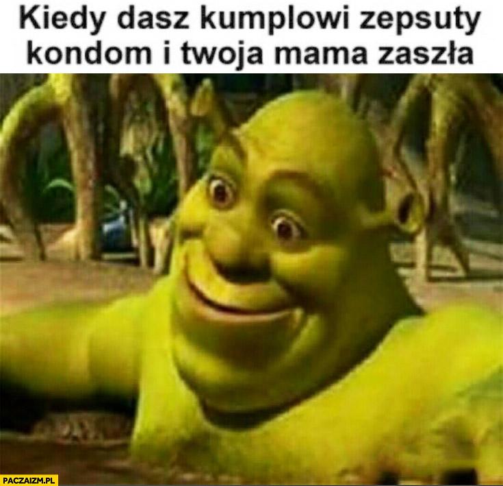 Kiedy dasz kumplowi zepsuty kondom i Twoja mama zaszła Shrek