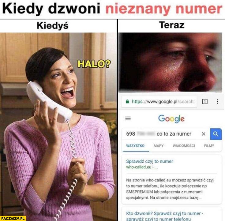 Kiedy dzwoni nieznany numer: kiedyś halo, teraz googluje co to za numer