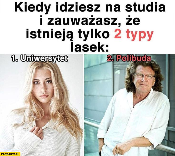 Kiedy idziesz na studia i zauważasz, że istnieją tylko 2 typy lasek uniwersytet vs polibuda Zbigniew Wodecki