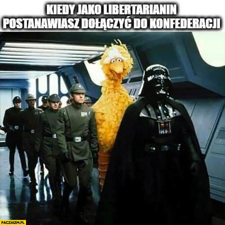 Kiedy jako libertarianin postanawiasz dołączyć do konfederacji wielki ptak ulica sezamkowa gwiezdne wojny