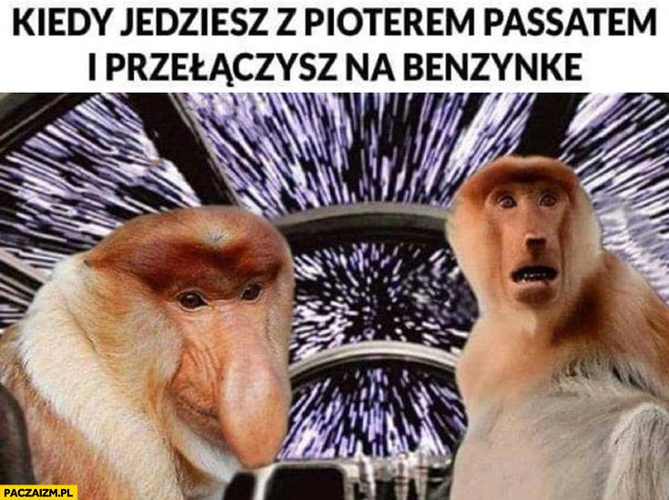 Kiedy jedziesz z Pioterem Passatem i przełączysz na benzynkę prędkość nadświetlna Polak nosacz małpa Gwiezdne Wojny