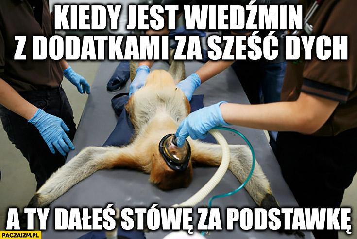 Kiedy jest Wiedźmin z dodatkami za sześć dych a Ty dałeś stówę za podstawkę wersję podstawową typowy Polak nosacz małpa reanimacja