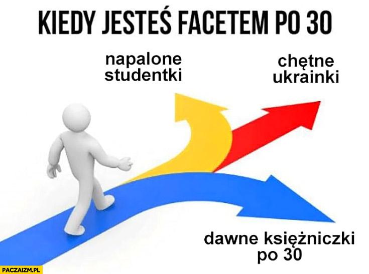 Kiedy jesteś facetem po 30: napalone studentki, chętne Ukrainki, dawne księżniczki po 30