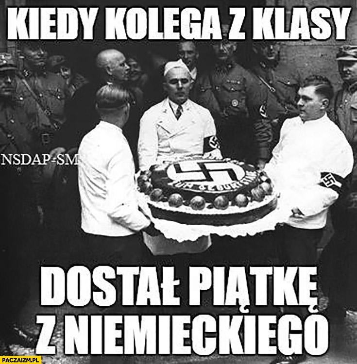 Kiedy kolega z klasy dostał piątkę z niemieckiego tort naziści