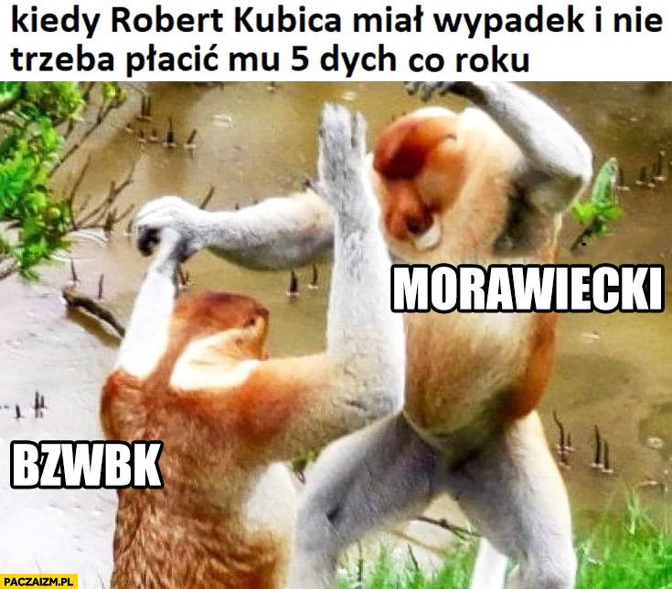 Kiedy Kubica miał wypadek i nie trzeba płacić mu 5 dych co roku typowy Polak nosacz małpa tańczy