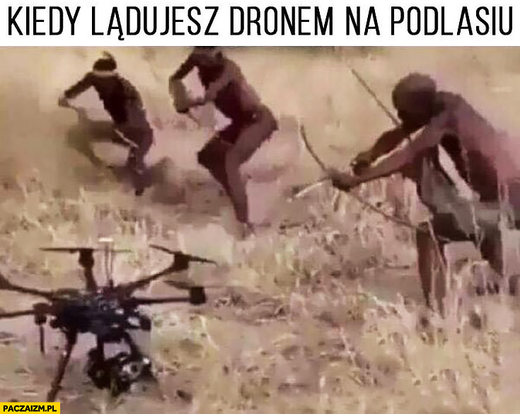 Kiedy lądujesz dronem na Podlasiu tubylcy otoczyli
