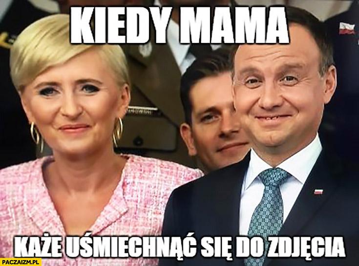 Kiedy mama każe uśmiechnąć się do zdjęcia Andrzej Duda Agata Duda