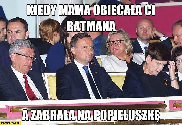 Kiedy mama obiecała Ci Batmana a zabrała na Popiełuszkę Andrzej Duda w kinie