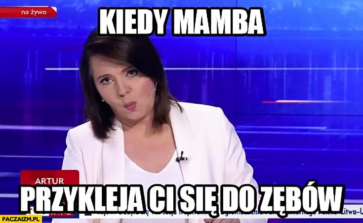 Kiedy Mamba przykleja Ci się do zębów Holecka Wiadomości TVP