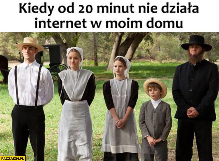 Kiedy od 20 minut nie działa internet w moim domu