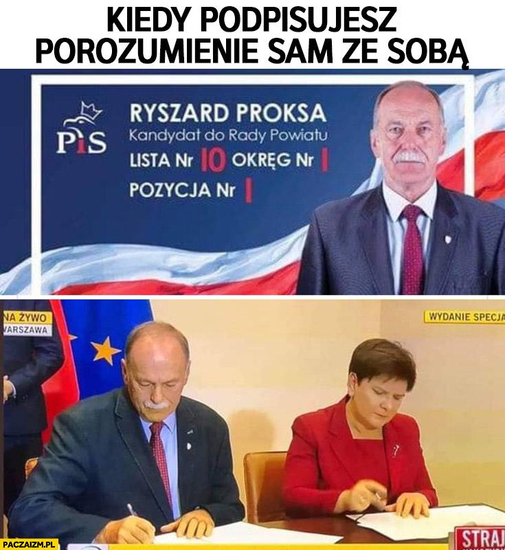 Kiedy podpisujesz porozumienie sam ze sobą Ryszard Proksa kandydat PiS Beata Szydło strajk nauczycieli