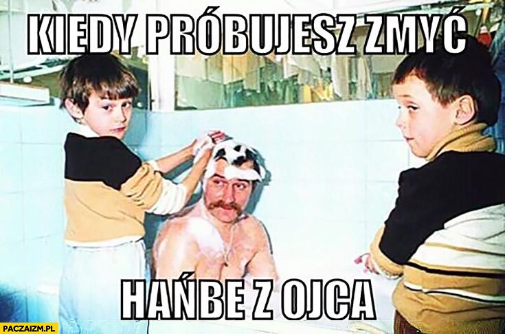 Kiedy próbujesz zmyć hańbę z ojca. Lech Wałęsa Bolek kąpiel z dziećmi synami