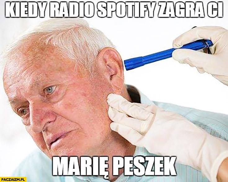 Kiedy radio Spotify zagra Ci Marię Peszek chory dziadek