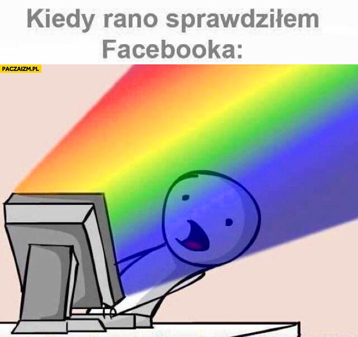 Kiedy rano sprawdziłem facebooka tęczowe zdjęcia profilowe