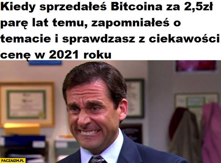 Kiedy sprzedałeś bitcoina za 2,5 zł parę lat temu i sprawdzasz z ciekawości obecna cenę