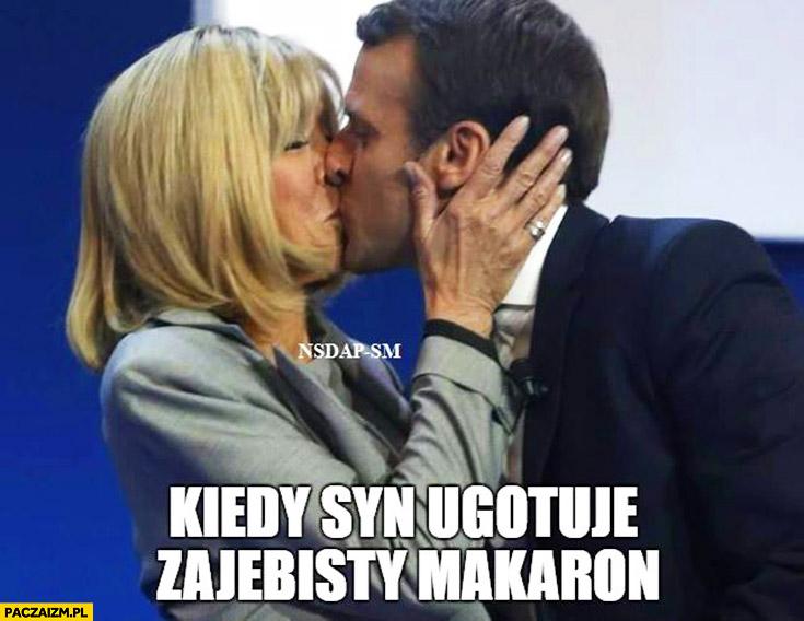 Kiedy syn ugotuje zarąbisty makaron Macron z żoną