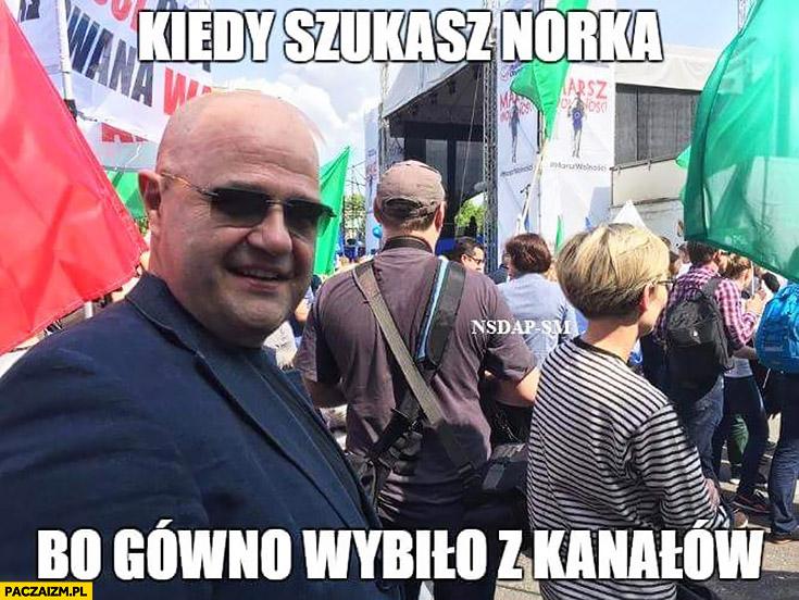 Kiedy szukasz Norka bo gówno wybiło z kanałów Cezary Żak Karol Krawczyk marsz PO Platformy Obywatelskiej