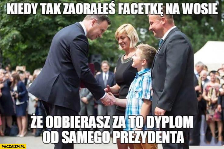 Kiedy tak zaorałeś facetkę na WOSie, że odbierasz za to dyplom od samego prezydenta Andrzej Duda