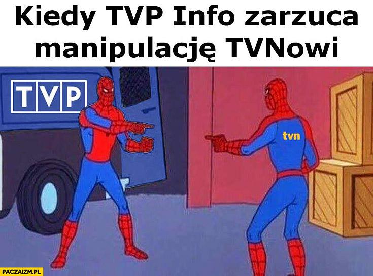 Kiedy TVP Info zarzuca manipulacje TVN-owi Spiderman
