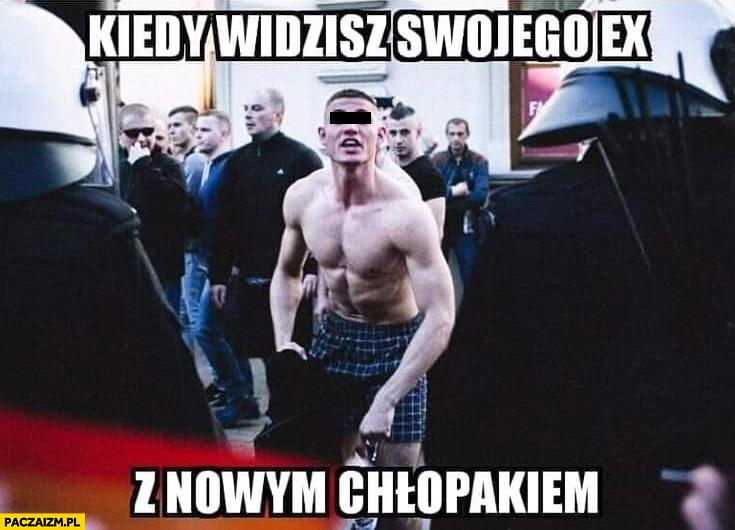 Kiedy widzisz swojego ex z nowym chłopakiem zamieszki na marszu równości w Lublinie
