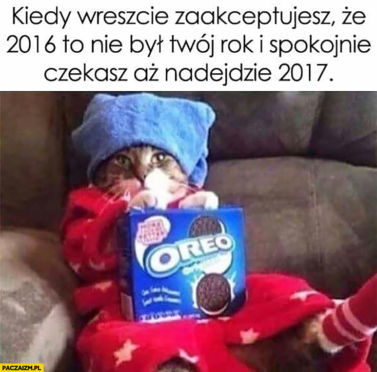 Kiedy wreszcie zaakceptujesz, że 2016 to nie był Twój rok i spokojnie czekasz aż nadejdzie 2017