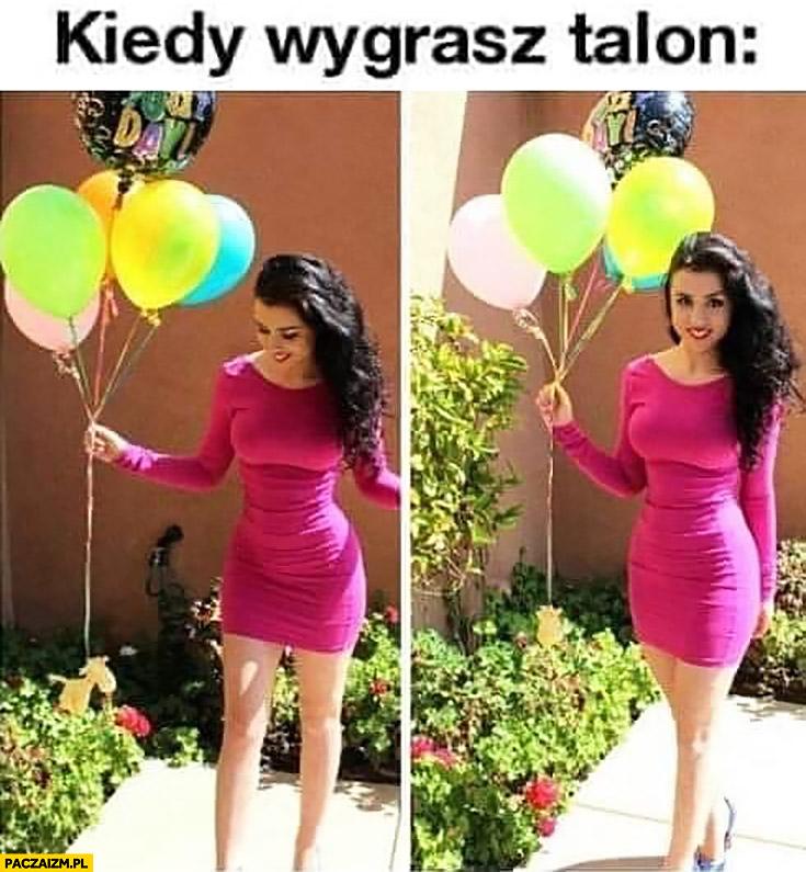 Kiedy wygrywasz talon na kurne i balon