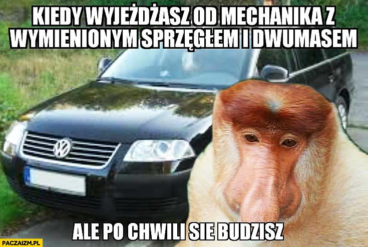 Kiedy wyjeżdżasz od mechanika z wymienionym sprzęgłem i dwumasą, ale po chwili się budzisz typowy Polak nosacz małpa Passat