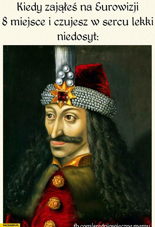 Kiedy zająłeś na Eurowizji 8 miejsce i czujesz w sercu lekki niedosyt Michał Szpak średniowieczne memy
