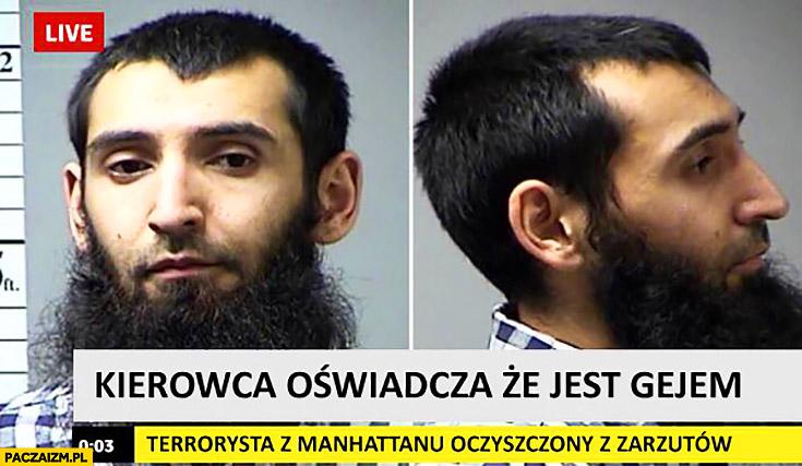 Kierowca zamachowiec oświadcza, że jest gejem terrorysta z Nowego Jorku z Manhattanu oczyszczony z zarzutów Kevin Spacey