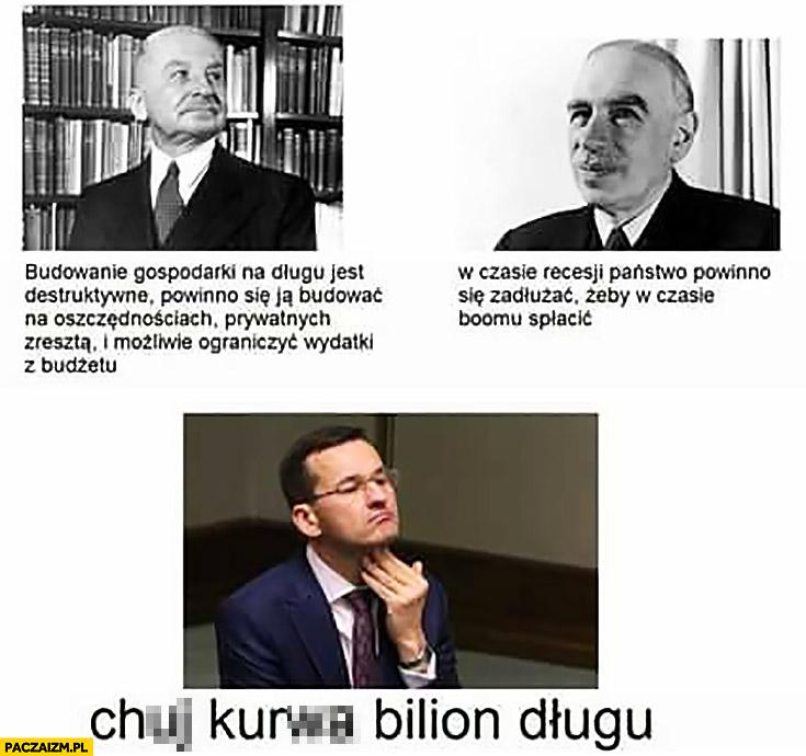 Kij kurna, bilion długu Morawiecki vs ekonomiści Mises Keynes