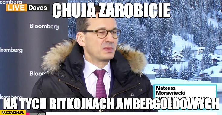 Kija zarobicie na tych bitkojnach ambergoldowych Morawiecki