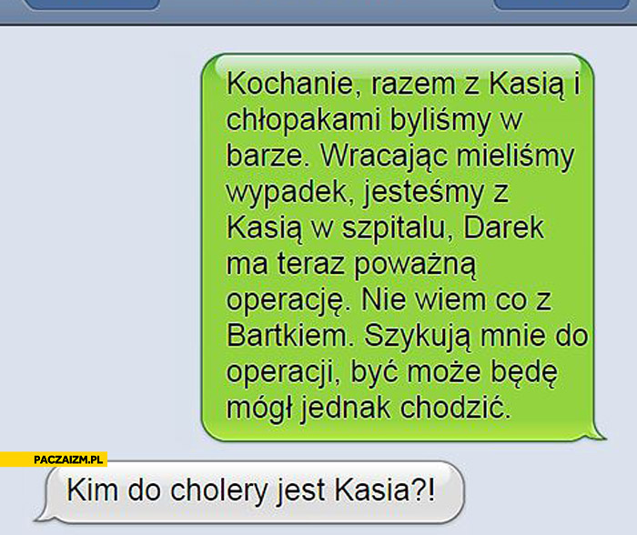 Kim do cholery jest Kasia