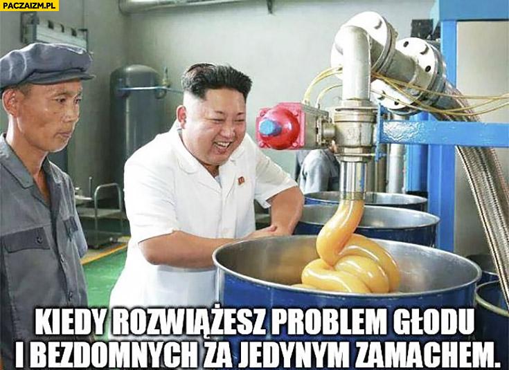 Kim Jong Un kiedy rozwiążesz problem głodu i bezdomnych za jednym razem