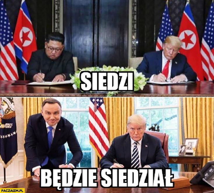 Kim Jong Un u Trumpa siedzi Andrzej Duda będzie siedział porównanie